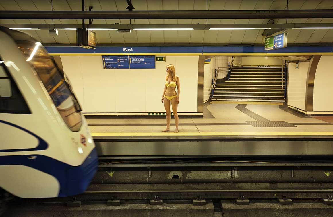 Fotografía de Madrid, Estación de metro Sol