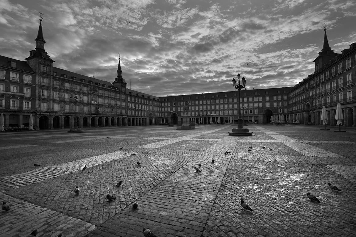 Plaza Mayor vacía