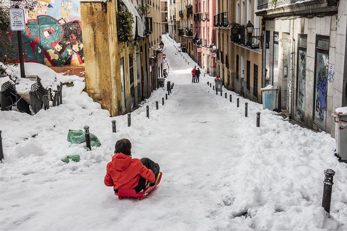 Jugando en la nieve