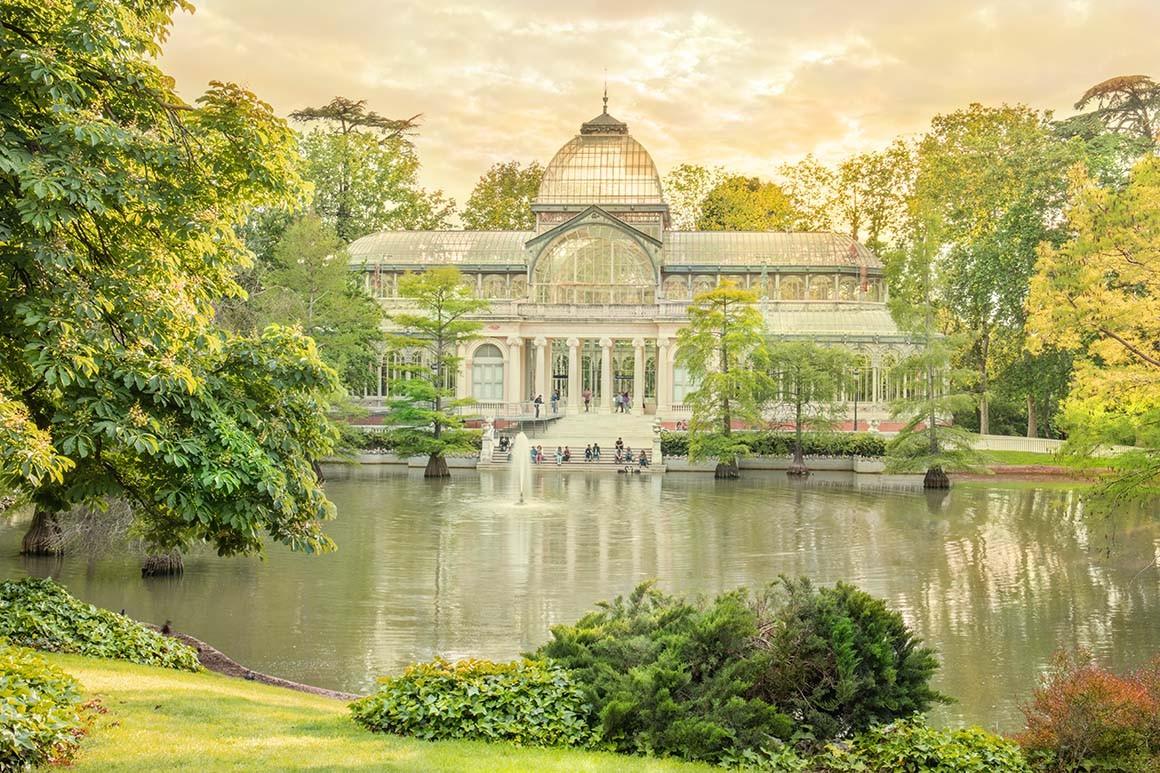 Palacio de cristal primaveral