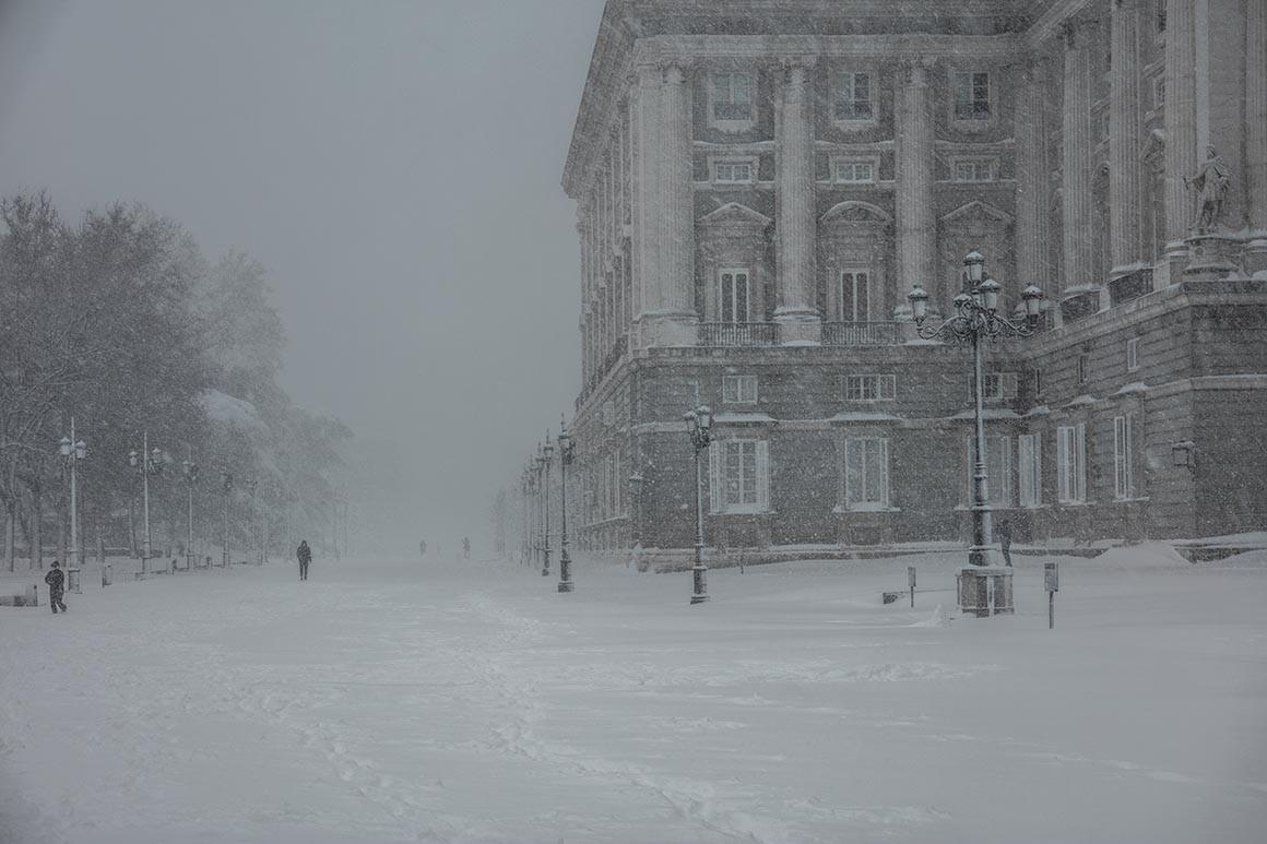 Fotografía de Madrid, Nieve en el Palacio Real