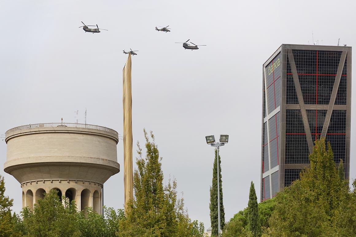 Fotografía de Madrid, Sobrevolando Plaza de Castilla