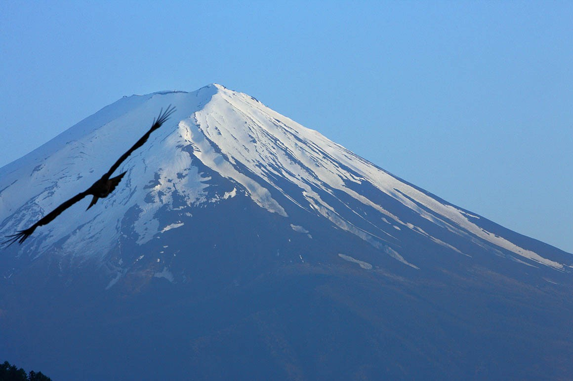 Sobrevolando el Monte Fuji, autor Javier Aranburu