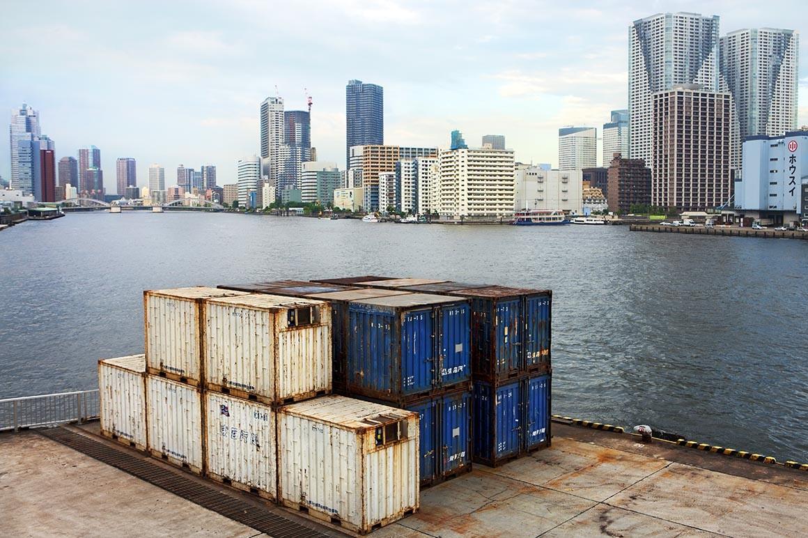 Fotografía artística de la Bahía de Tokio, autor Javier Aranburu