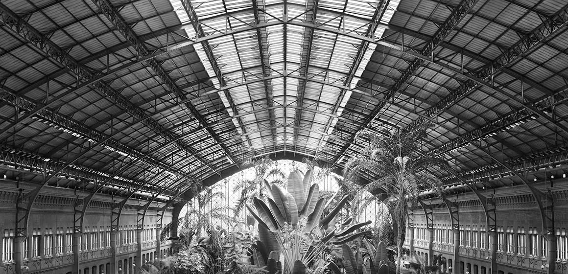 Jardín de la estación de Atocha Madrid
